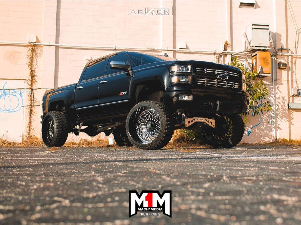 1 2015 Silverado 1500 Chevrolet Mcgaughys Suspension Lift 9in Arkon Off Road Crown Series Victory Machined Accents