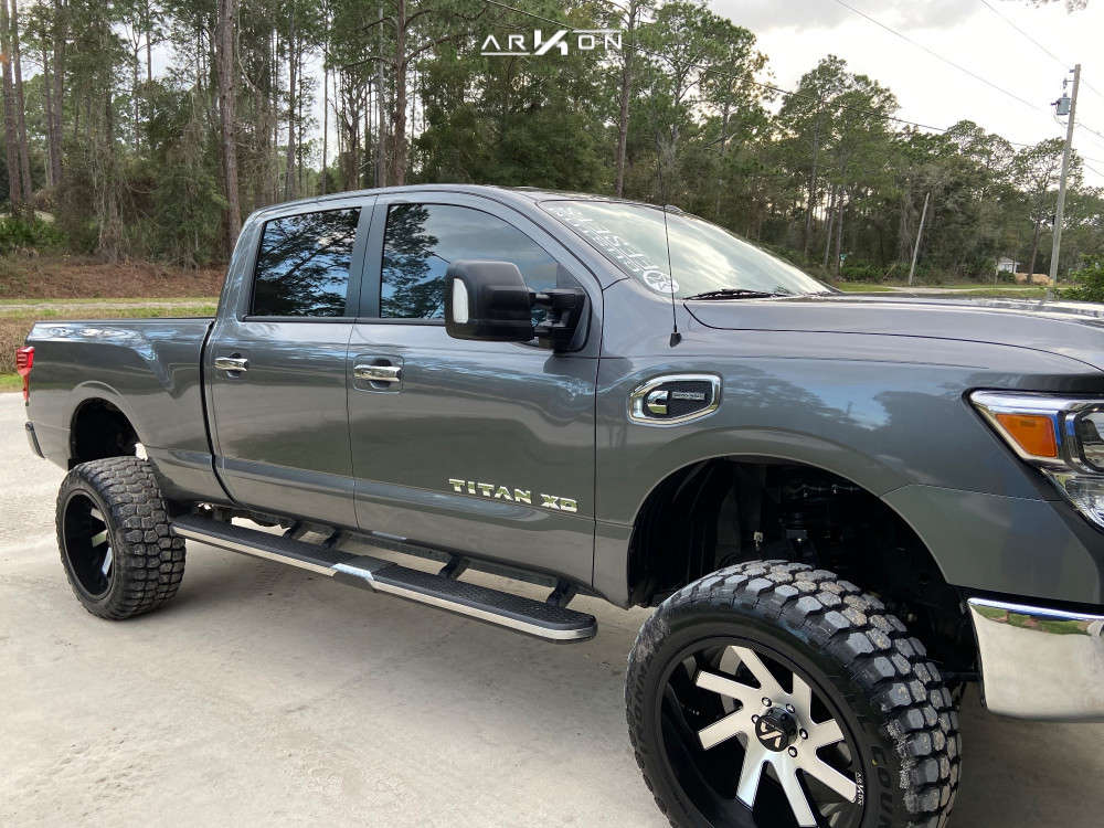 1 2019 Titan Xd Nissan Rough Country Suspension Lift 6in Arkon Off Road Lincoln Black