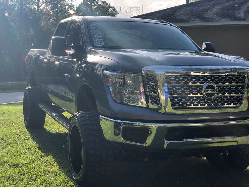 2 2019 Titan Xd Nissan Rough Country Suspension Lift 6in Arkon Off Road Lincoln Black