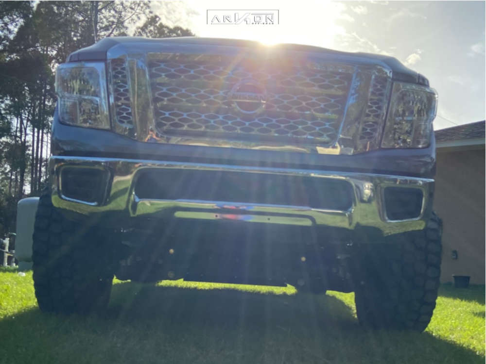 8 2019 Titan Xd Nissan Rough Country Suspension Lift 6in Arkon Off Road Lincoln Black