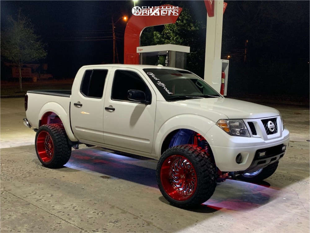 1 2007 Frontier Nissan Rough Country Suspension Lift 6in Arkon Off Road Crown Series Victory Red
