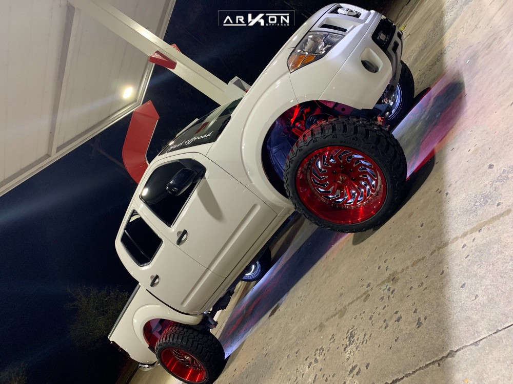 3 2007 Frontier Nissan Rough Country Suspension Lift 6in Arkon Off Road Crown Series Victory Red