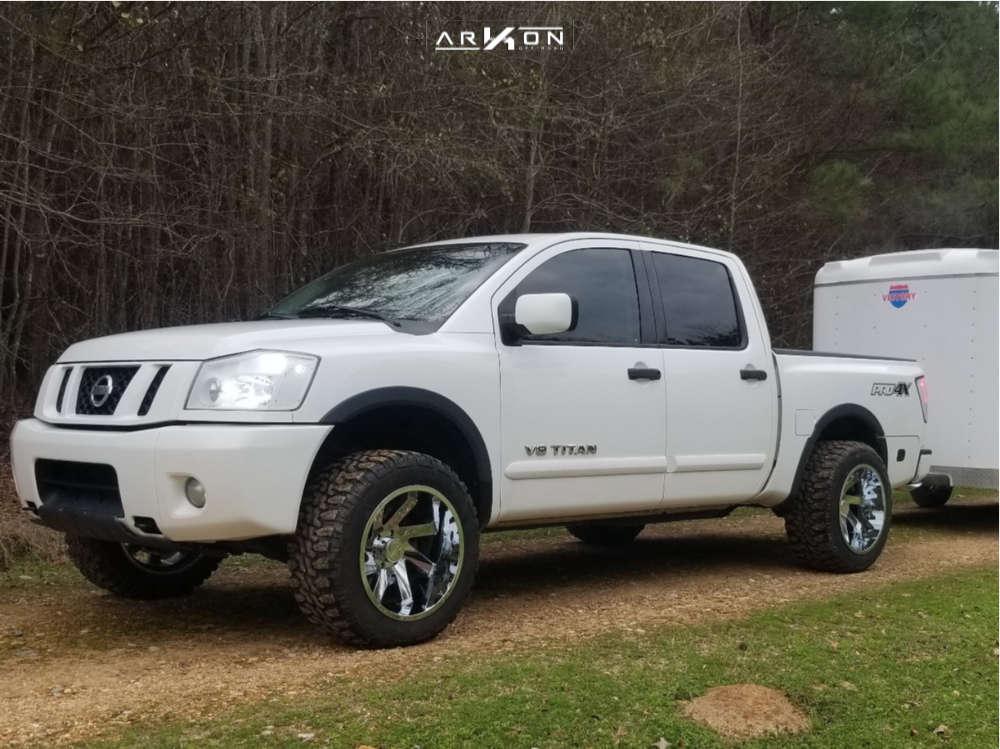 1 2008 Titan Nissan Leveling Kit Leveling Kit Arkon Off Road Lincoln Chrome