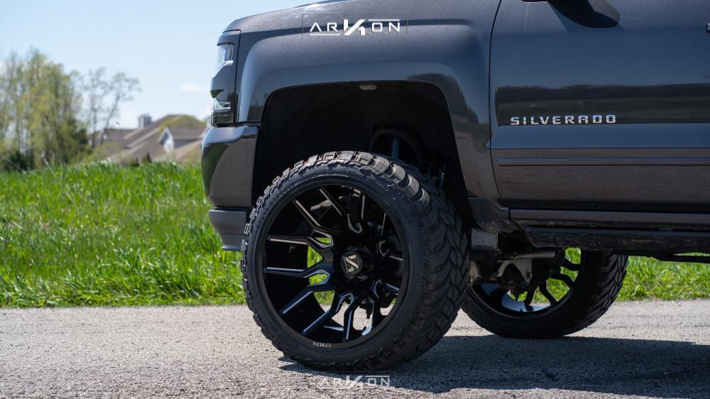 13 2016 Silverado 1500 Chevrolet Fabtech Suspension Lift 6in Arkon Off Road Roosevelt Machined Accents