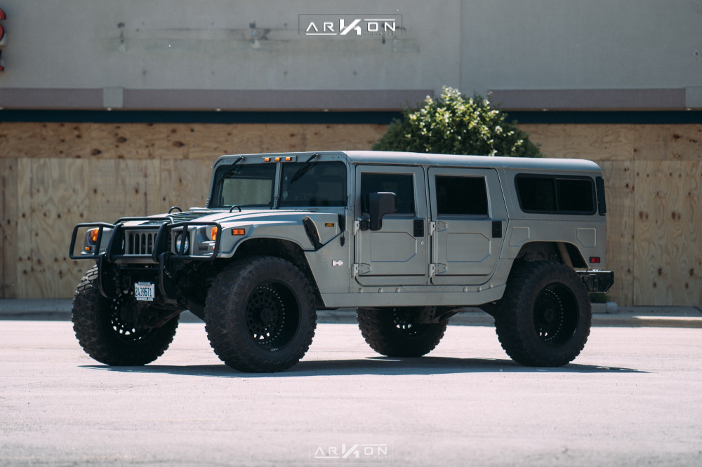 1 2003 H1 Hummer Rubberduck4x4 Suspension Lift 3in Arkon Off Road Crown Series Triumph Black
