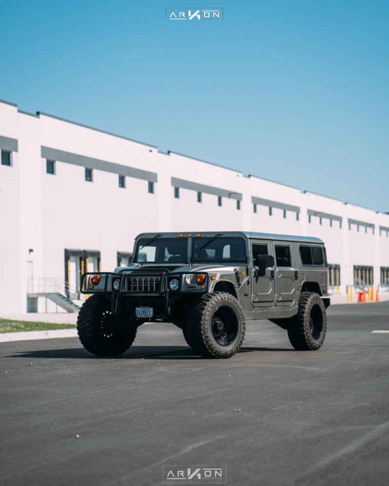 12 2003 H1 Hummer Rubberduck4x4 Suspension Lift 3in Arkon Off Road Crown Series Triumph Black