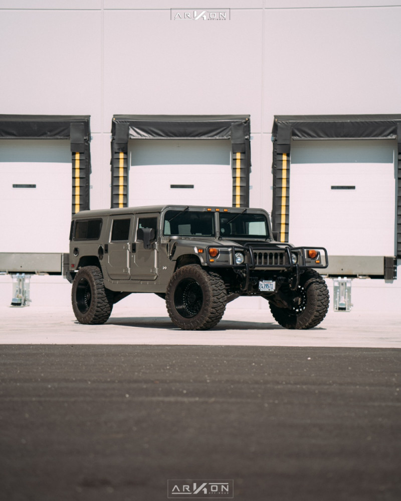 8 2003 H1 Hummer Rubberduck4x4 Suspension Lift 3in Arkon Off Road Crown Series Triumph Black