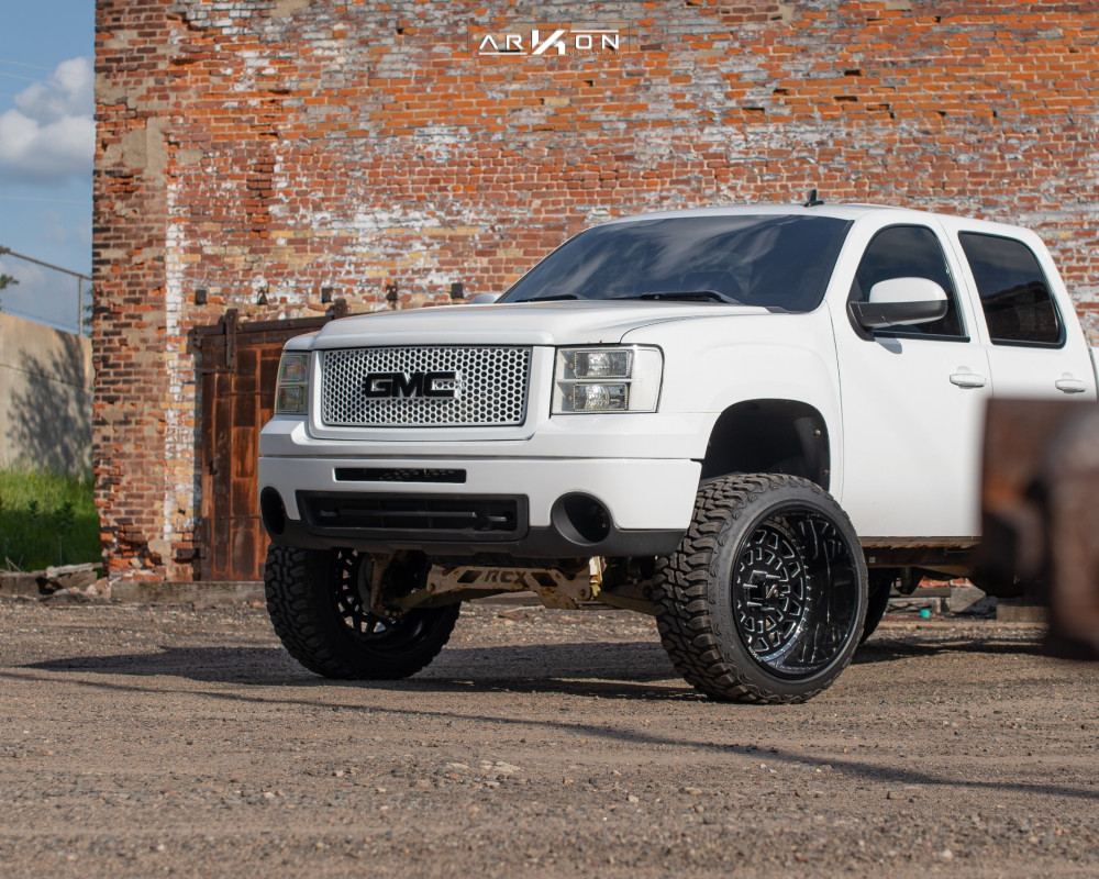 14 2011 Sierra 1500 Gmc Rough Country Suspension Lift 75in Arkon Off Road Crown Series Triumph Machined Accents