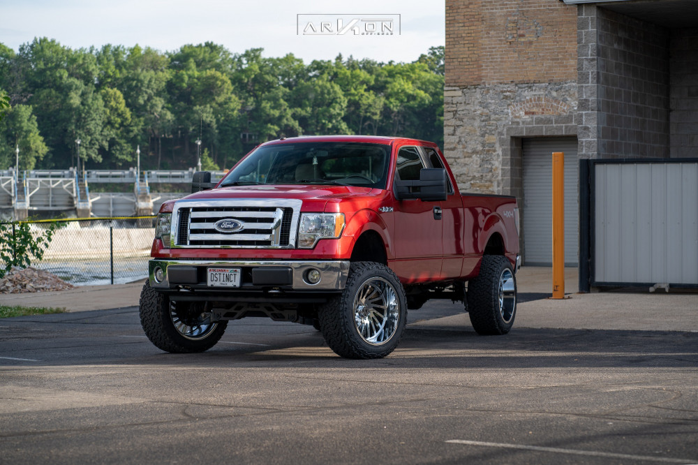 1 2009 F 150 Ford Rough Country Suspension Lift 6in Arkon Off Road Caesar Chrome