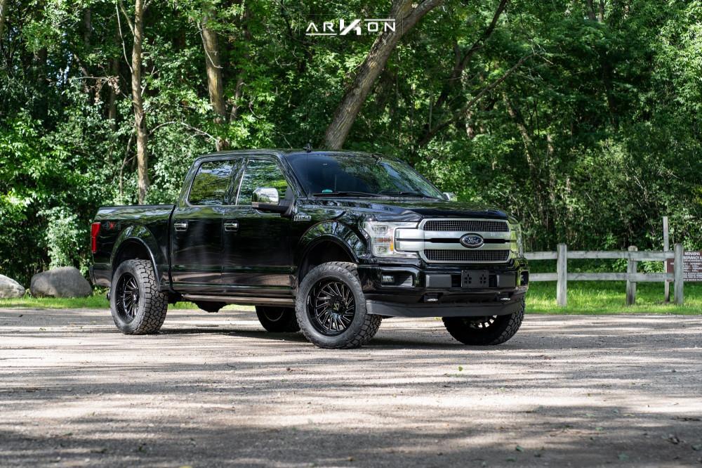 1 2018 F 150 Ford Top Gun Customz Leveling Kit Arkon Off Road Caesar Machined Black
