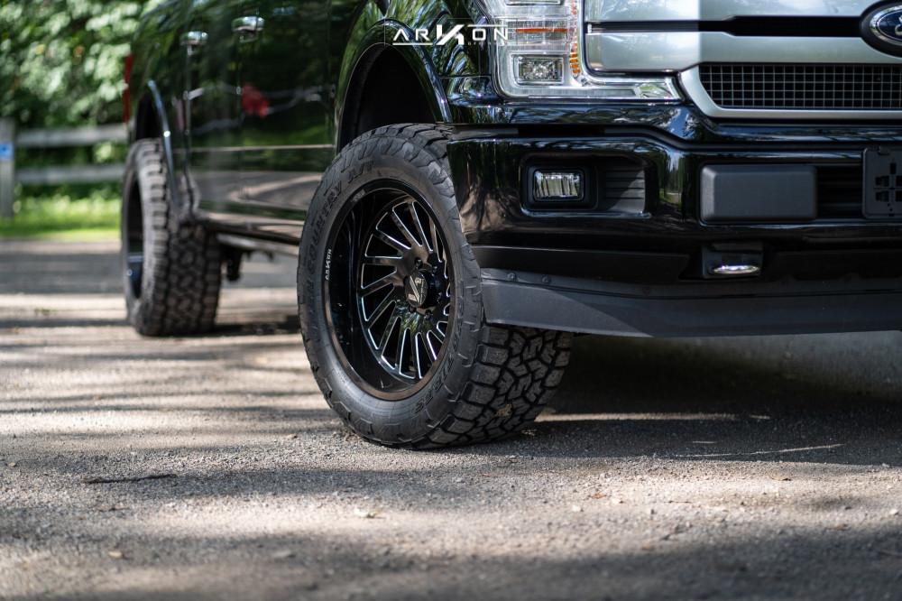 2 2018 F 150 Ford Top Gun Customz Leveling Kit Arkon Off Road Caesar Machined Black