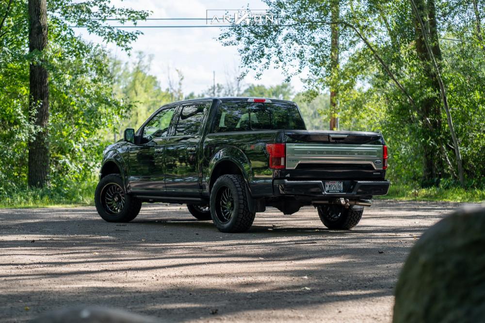 3 2018 F 150 Ford Top Gun Customz Leveling Kit Arkon Off Road Caesar Machined Black