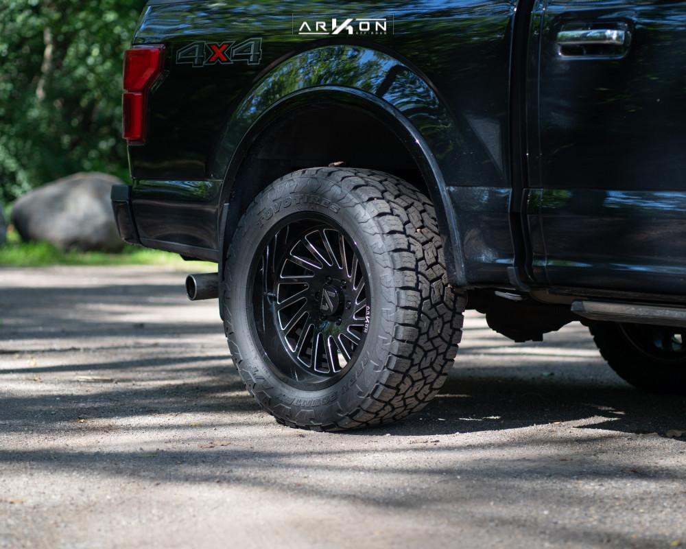 4 2018 F 150 Ford Top Gun Customz Leveling Kit Arkon Off Road Caesar Machined Black