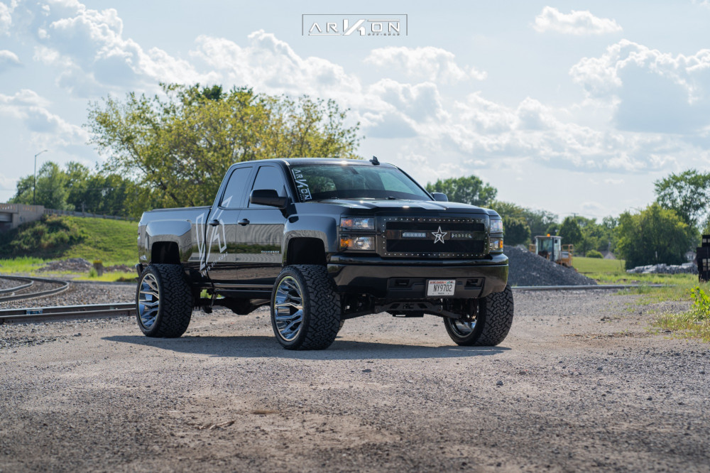 12 2015 Silverado 1500 Chevrolet Rough Country Suspension Lift 7in Arkon Off Road Roosevelt Chrome
