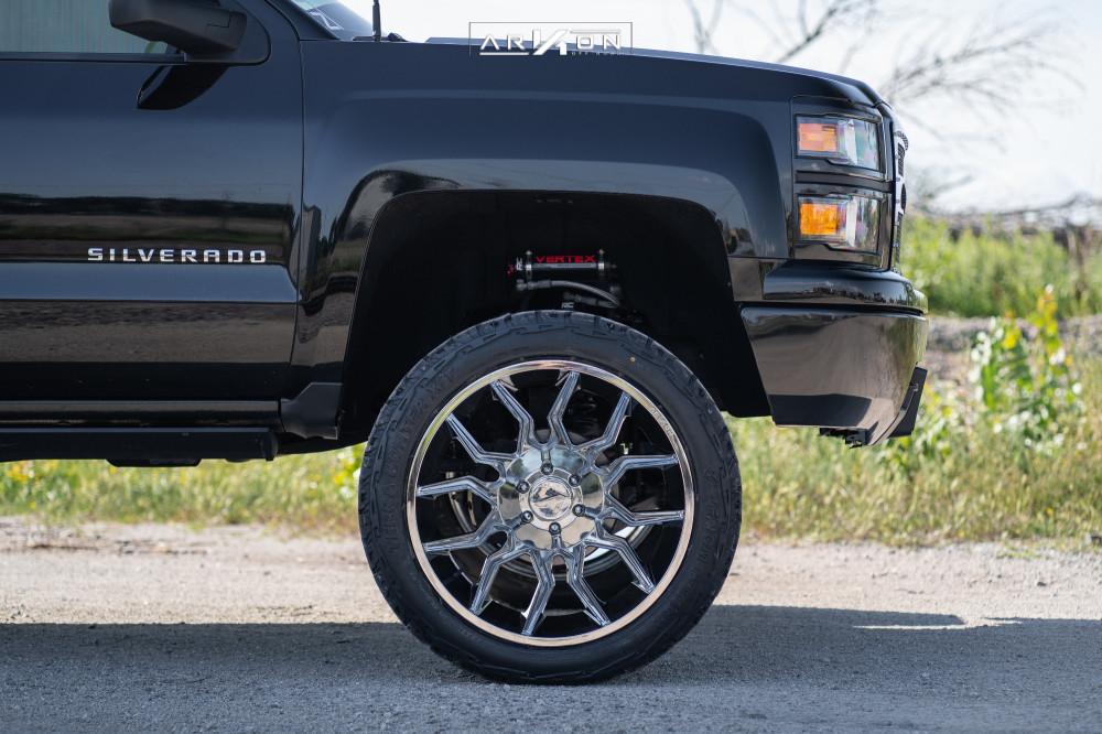 5 2015 Silverado 1500 Chevrolet Rough Country Suspension Lift 7in Arkon Off Road Roosevelt Chrome