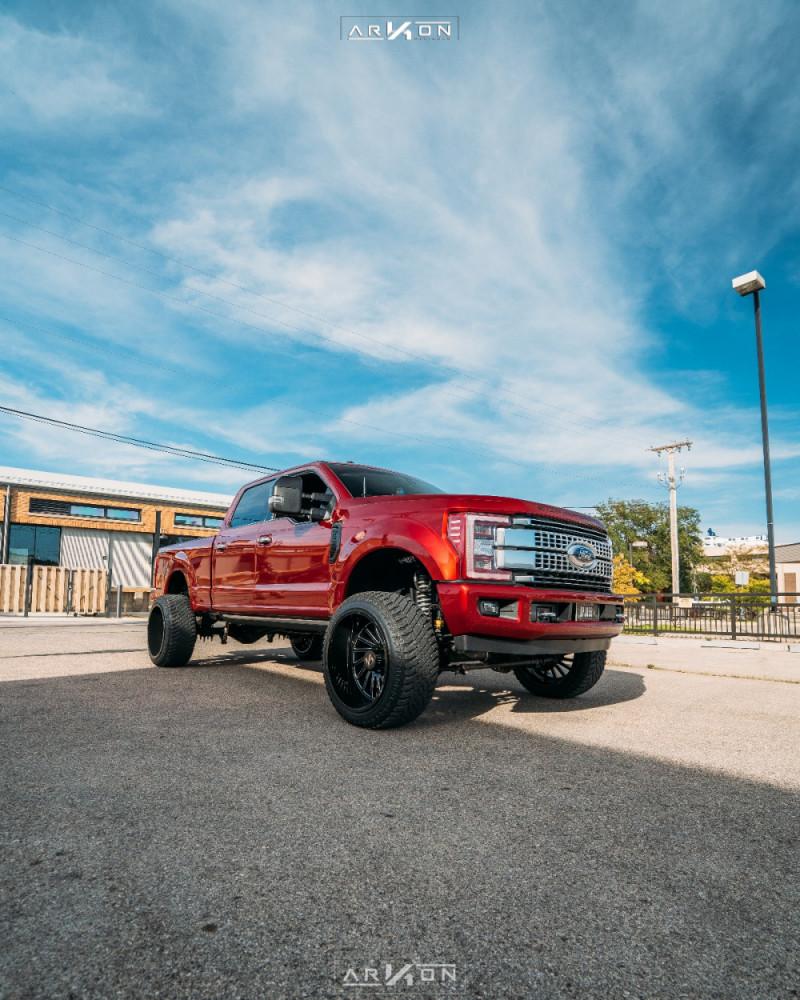 4 2018 F 350 Super Duty Ford Bds Suspension Lift 6in Arkon Off Road Caesar Machined Black