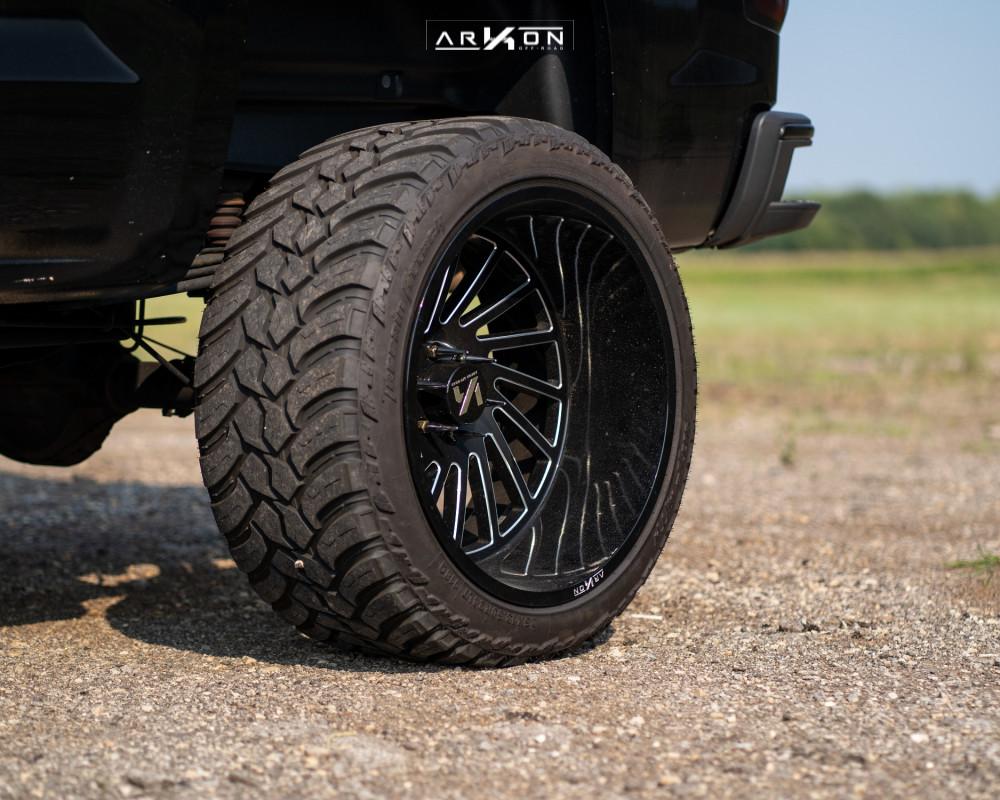 5 2015 Silverado 1500 Chevrolet Rough Country Suspension Lift 7in Arkon Off Road Caesar Machined Black