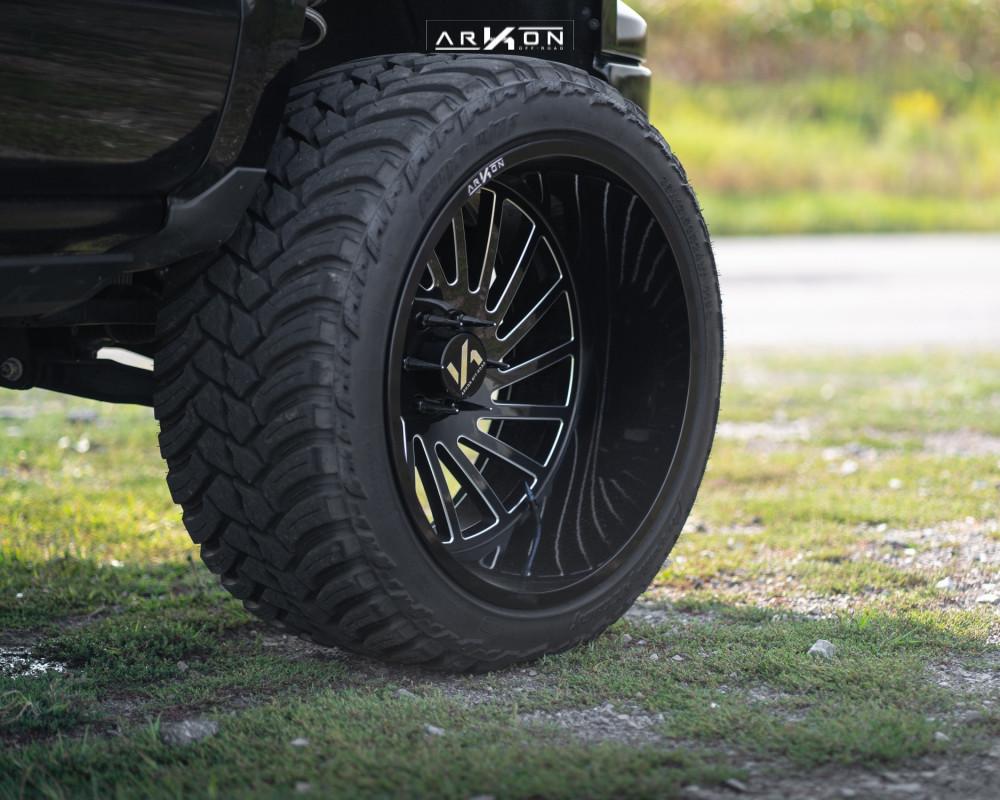 7 2015 Silverado 1500 Chevrolet Rough Country Suspension Lift 7in Arkon Off Road Caesar Machined Black
