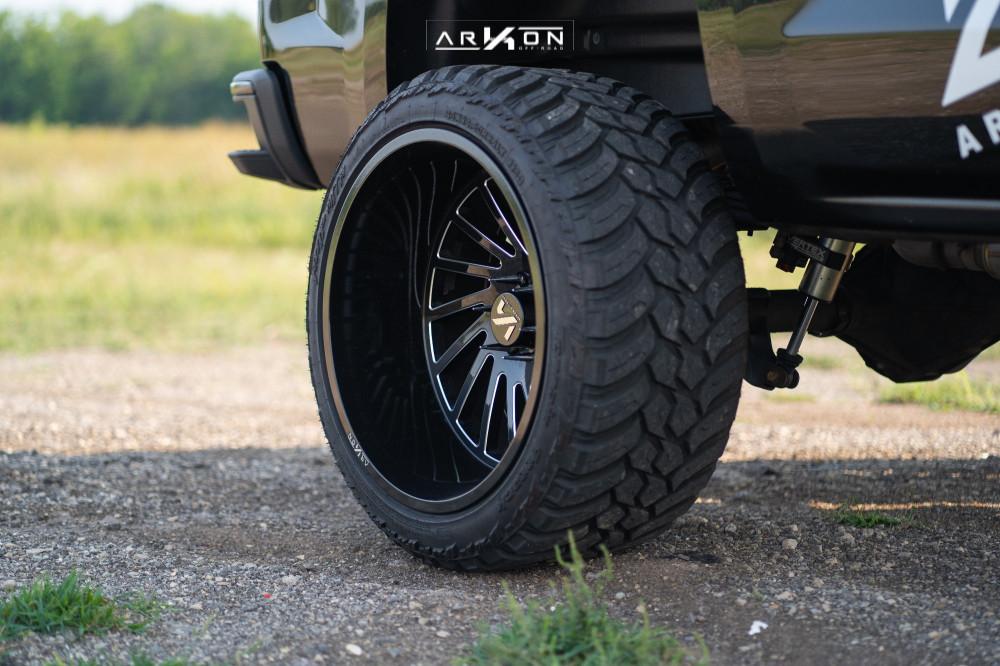 8 2015 Silverado 1500 Chevrolet Rough Country Suspension Lift 7in Arkon Off Road Caesar Machined Black