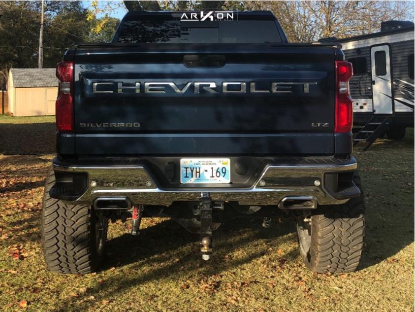 3 2019 Silverado 1500 Chevrolet Mcgaughys Suspension Lift 10in Arkon Off Road Caesar Chrome