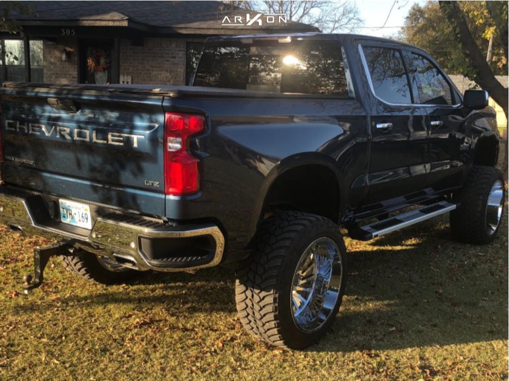 4 2019 Silverado 1500 Chevrolet Mcgaughys Suspension Lift 10in Arkon Off Road Caesar Chrome