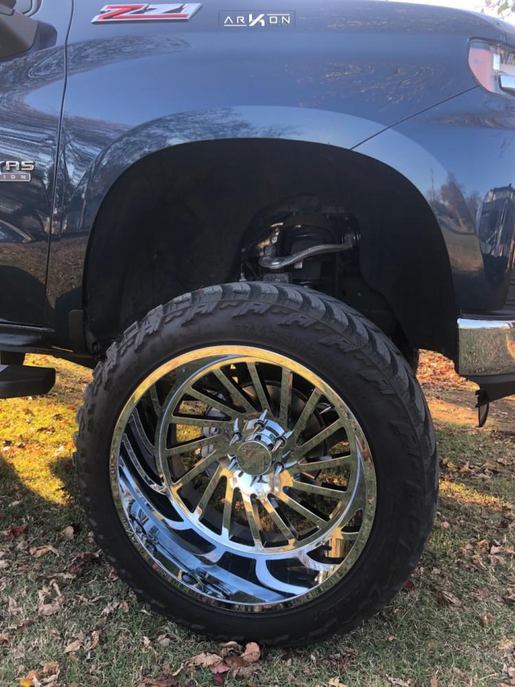 5 2019 Silverado 1500 Chevrolet Mcgaughys Suspension Lift 10in Arkon Off Road Caesar Chrome