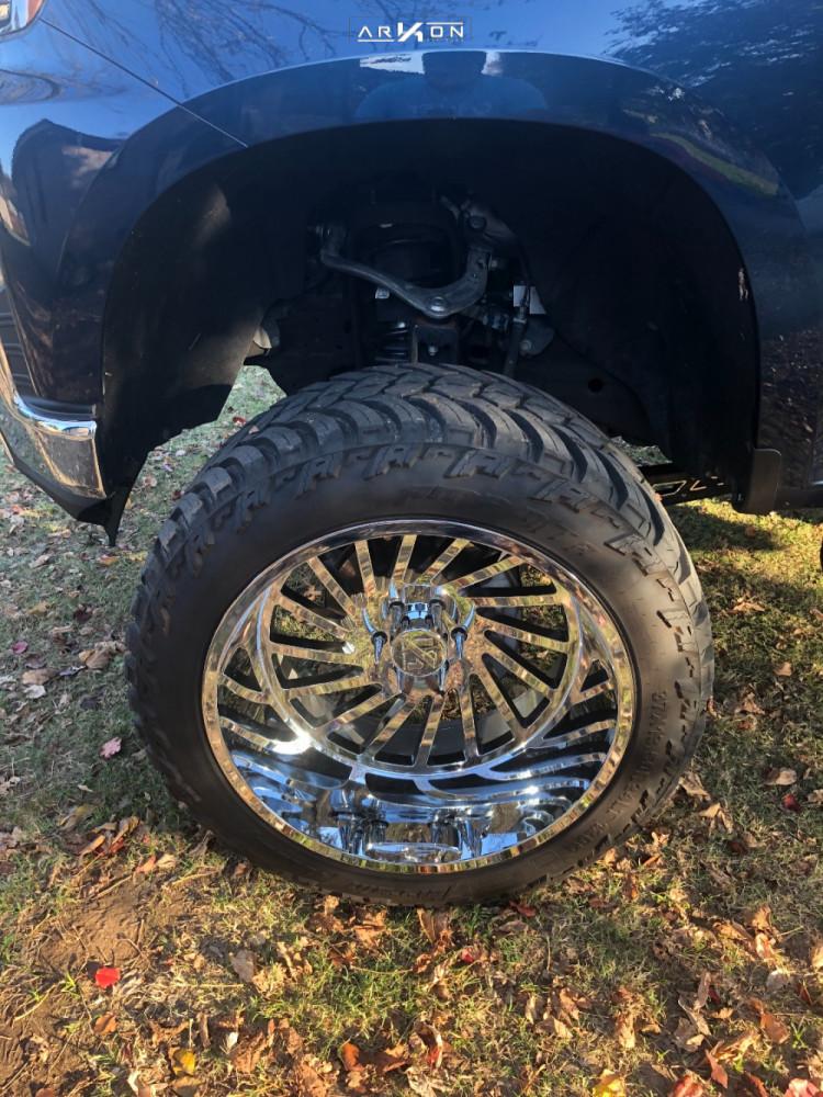 8 2019 Silverado 1500 Chevrolet Mcgaughys Suspension Lift 10in Arkon Off Road Caesar Chrome