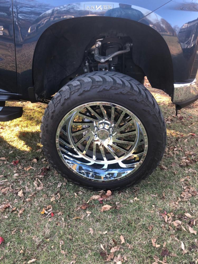 9 2019 Silverado 1500 Chevrolet Mcgaughys Suspension Lift 10in Arkon Off Road Caesar Chrome