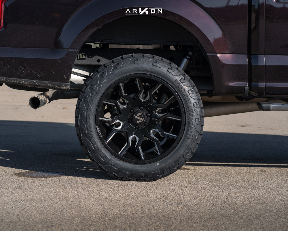 2 2015 F 150 Ford Rough Country Suspension Lift 6in Arkon Off Road Roosevelt Black