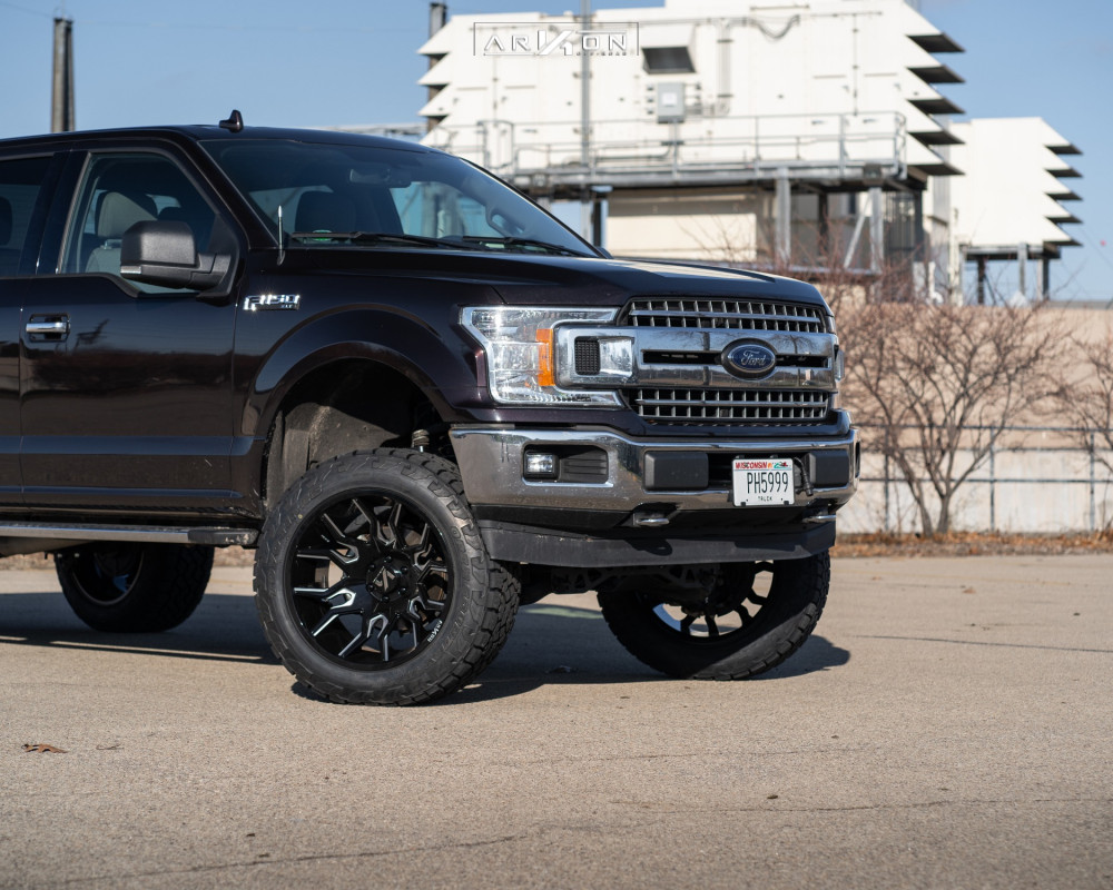 3 2015 F 150 Ford Rough Country Suspension Lift 6in Arkon Off Road Roosevelt Black