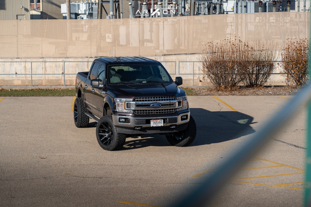 4 2015 F 150 Ford Rough Country Suspension Lift 6in Arkon Off Road Roosevelt Black