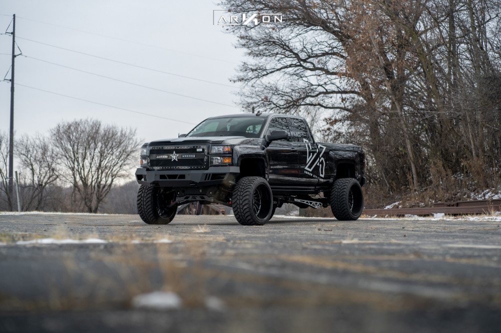 8 2015 Silverado 1500 Chevrolet Rough Country Suspension Lift 7in Arkon Off Road Caesar Black