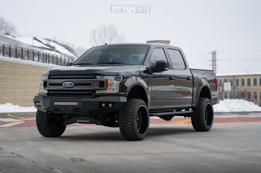 8 2018 F 150 Ford Superlift Suspension Lift 6in Arkon Off Road Alexander Black
