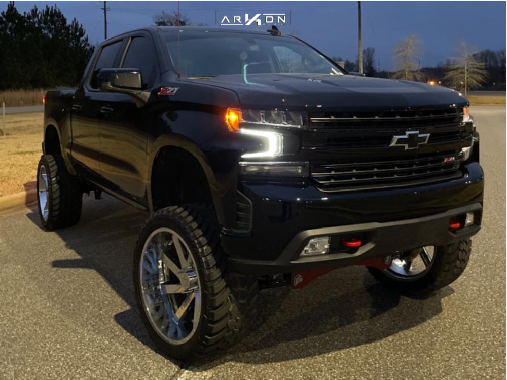 1 2021 Silverado 1500 Chevrolet Full Throttle Suspension Lift 9in Arkon Off Road Lincoln Chrome