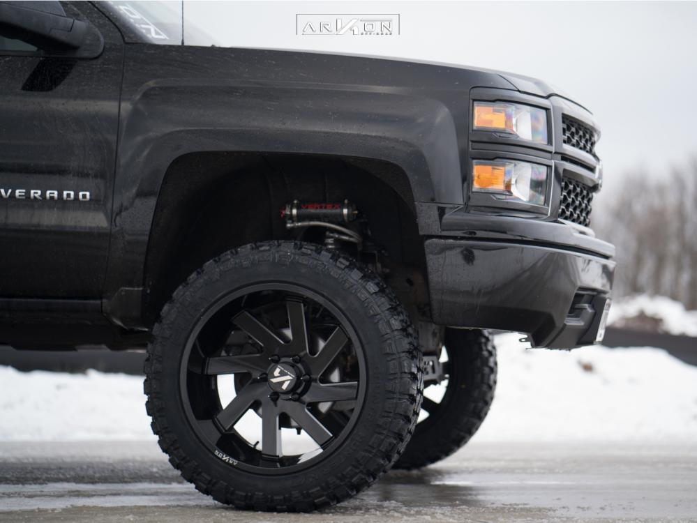 5 2015 Silverado 1500 Chevrolet Rough Country Suspension Lift 7in Arkon Off Road Lincoln Black
