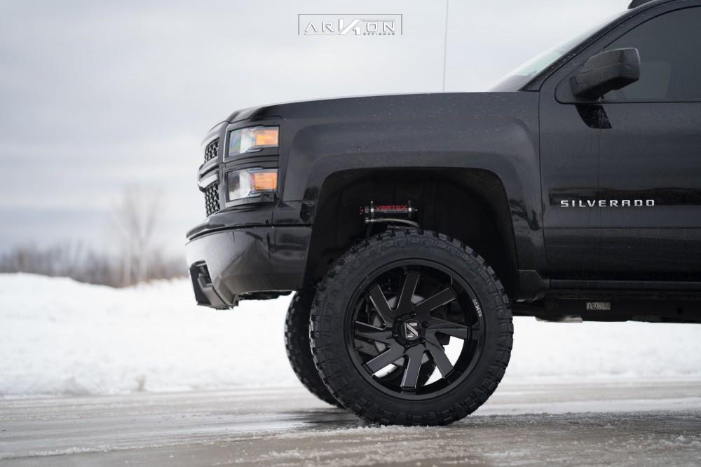 6 2015 Silverado 1500 Chevrolet Rough Country Vertex Coilover Suspension Lift 7in Arkon Off Road Ark I Black