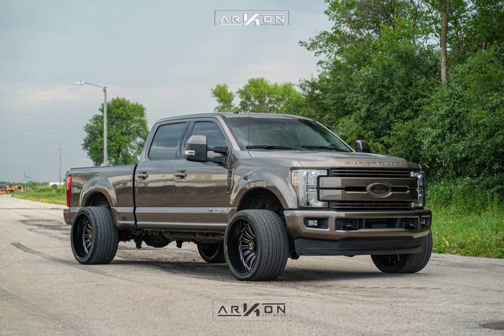11 2018 F 250 Super Duty Ford Stock Level 2in Drop Rear Arkon Off Road Alexander Machined Accents