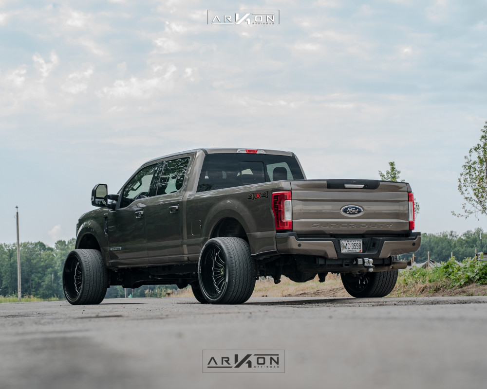 9 2018 F 250 Super Duty Ford Stock Level 2in Drop Rear Arkon Off Road Alexander Machined Accents