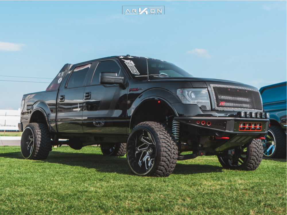 1 2014 F 150 Ford Bds Suspension Lift 7in Arkon Off Road Cleopatra Black