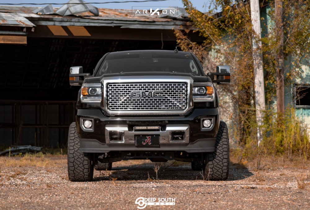 2 2016 Sierra 2500 Hd Gmc Rough Country Suspension Lift 5in Arkon Off Road Alexander Machined Black