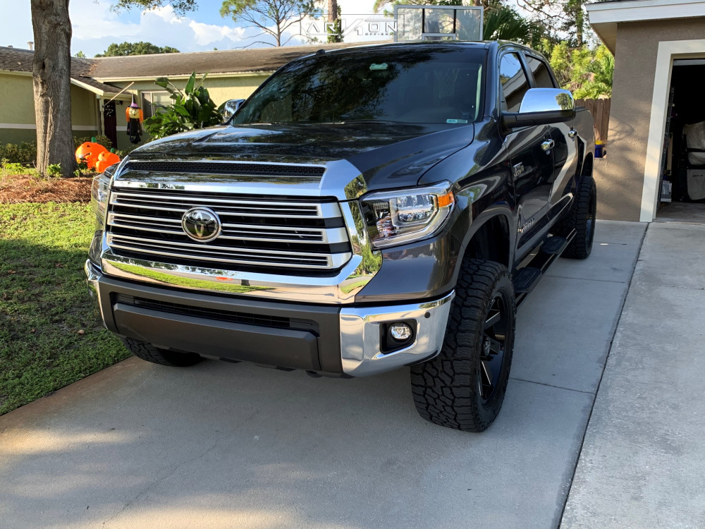 1 2018 Tundra Toyota Rough Country Leveling Kit Arkon Off Road Lincoln Black