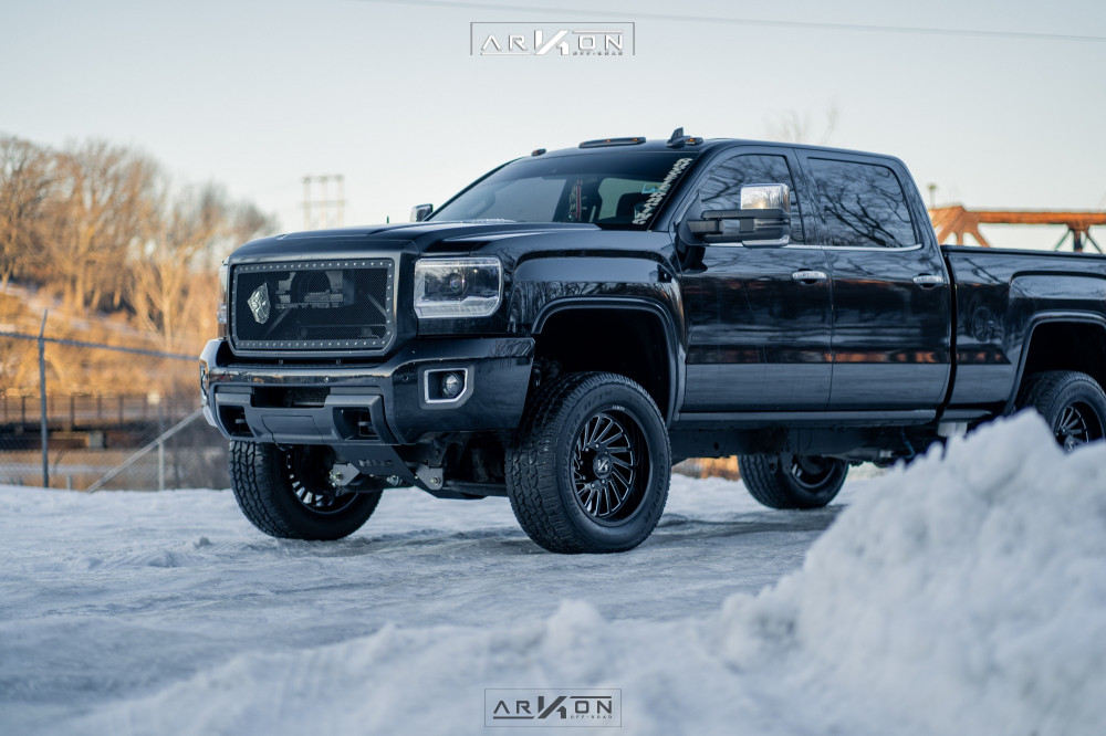 13 2015 Sierra 2500 Hd Gmc Bds Suspension Lift 45in Arkon Off Road Caesar Machined Black
