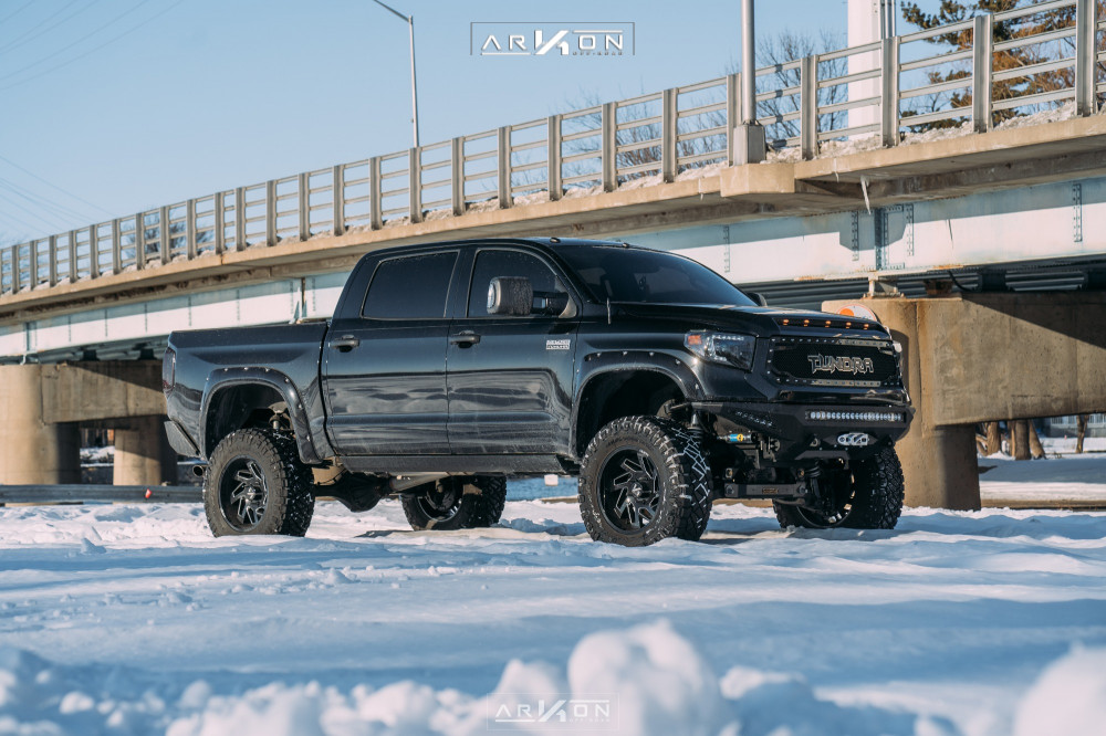 2 2015 Tundra Toyota Readylift Suspension Lift 8in Arkon Off Road Cleopatra Black