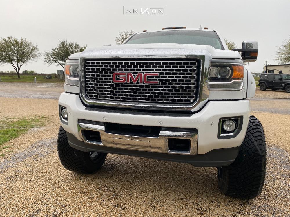 2 2016 Sierra 2500 Hd Gmc Full Throttle Suspension Lift 95in Arkon Off Road Caesar Black Milled