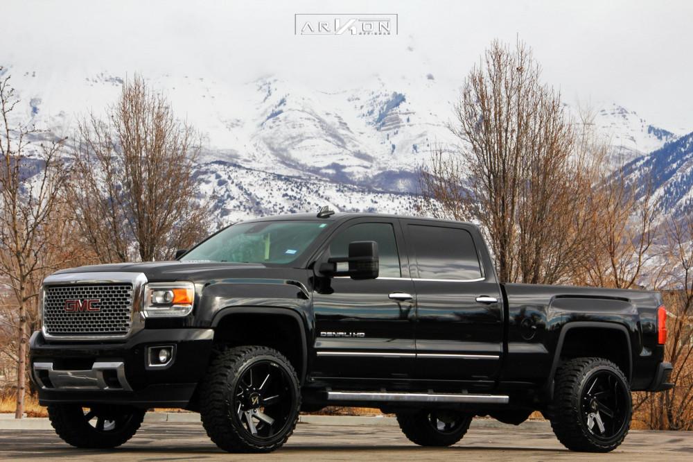 1 2015 Sierra 2500 Hd Gmc Readylift Leveling Kit Arkon Off Road Lincoln Machined Black