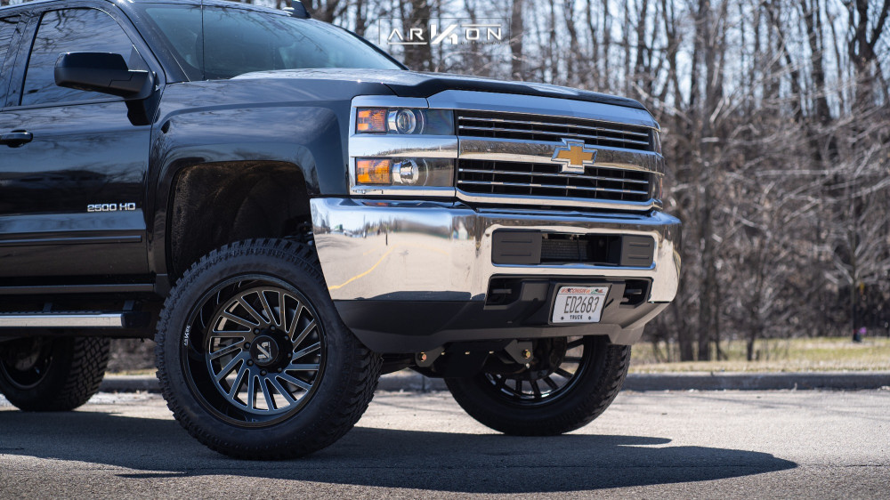 13 2017 Silverado 2500 Hd Chevrolet Bds Suspension Lift 45in Arkon Off Road Caesar Machined Accents
